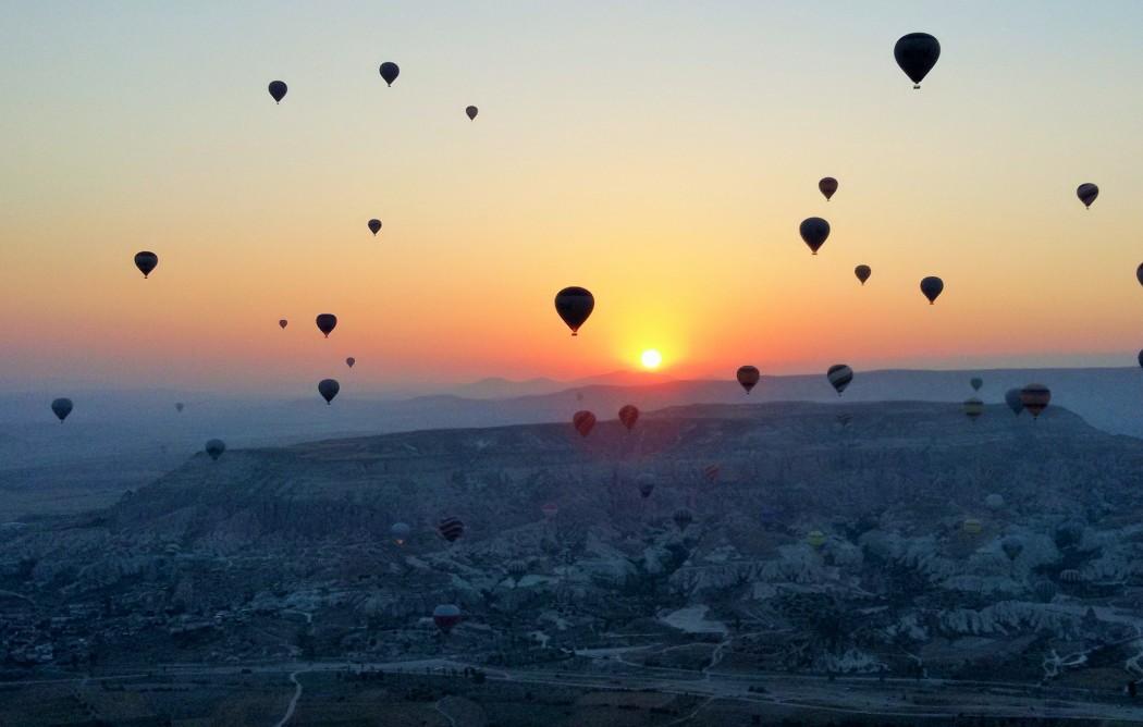 Cappadocia, Turkey sunrise.